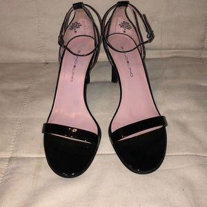 Bandolino Black Patent Strappy Heels -Size 8